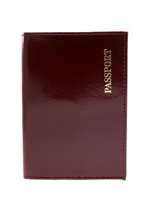 Обложка для паспорта JD.ZARZIS. Цвет: бордовый