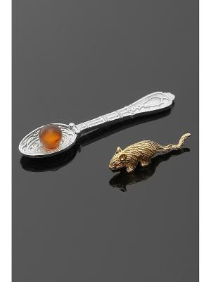 Оберег для кошелька (Мышка, ложка-загребушка) Migura. Цвет: золотистый, серебристый