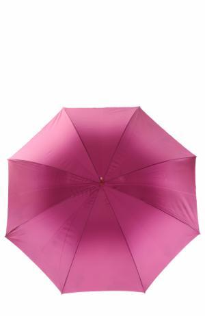 Зонт-трость с цветочным принтом Pasotti Ombrelli. Цвет: лиловый