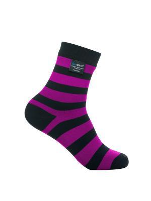 Водонепроницаемые носки DexShell Ultralite Bamboo Sock Black-Pink. Цвет: розовый, черный