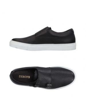 Низкие кеды и кроссовки SEBOY'S. Цвет: черный