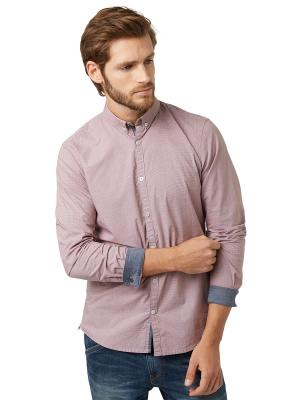 Рубашка TOM TAILOR. Цвет: бледно-розовый, серый, сиреневый