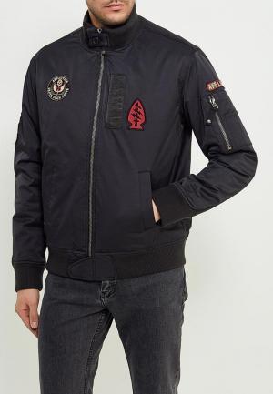 Куртка утепленная Affliction. Цвет: черный