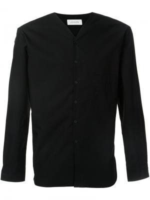 Рубашка с V-образным вырезом Lemaire. Цвет: чёрный