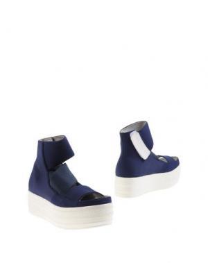 Полусапоги и высокие ботинки FESSURA. Цвет: темно-синий