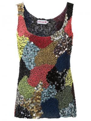 Embroidered top Isabela Capeto. Цвет: многоцветный