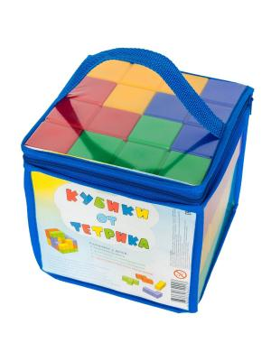 Игровой набор Кубики от Тетрика. Цвет: синий, зеленый, красный, желтый