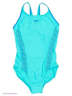 Слитный купальник Speedo. Цвет: голубой