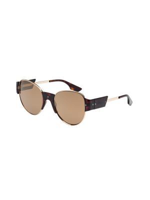 Солнцезащитные очки McQueen. Цвет: золотистый