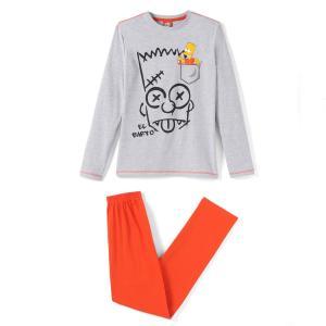 Пижама, 10-16 лет SIMPSONS. Цвет: серый + красный