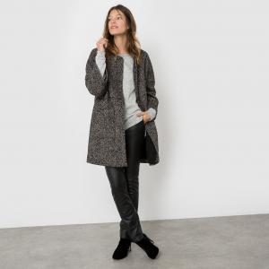 Пальто оверсайз Albi AND LESS. Цвет: черный