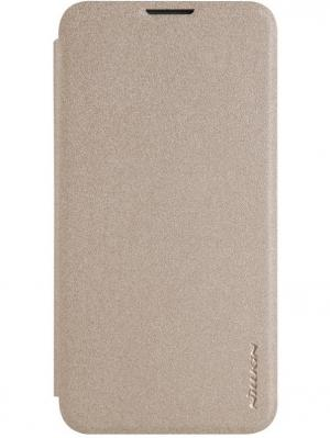Чехол Nillkin Sparkle Leather Case для LG K7. Цвет: золотистый