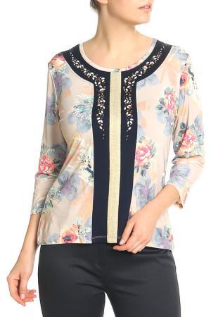 Блузка Elisa Fanti. Цвет: кремовый