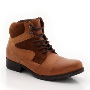 Ботинки из кожи и замши R teens. Цвет: черный