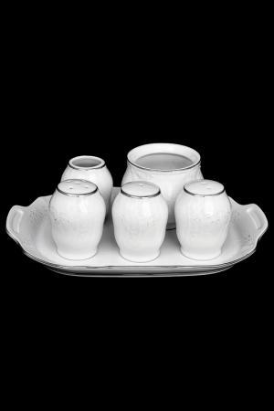 Набор для специй 6 предметов BERNADOTTE. Цвет: белый, платиновый