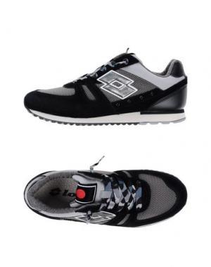 Низкие кеды и кроссовки LOTTO LEGGENDA. Цвет: черный