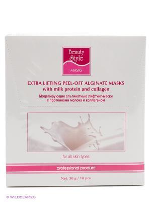Моделир. альгинат. лифтинг-маска с протеинами молока и коллагеном, 30 гр Beauty Style. Цвет: белый