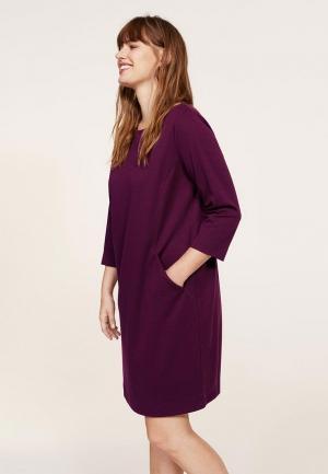 Платье Violeta by Mango. Цвет: фиолетовый