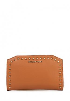 Клатч Trussardi Jeans. Цвет: коричневый