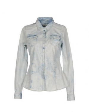 Джинсовая рубашка BLUEFEEL by FRACOMINA. Цвет: синий