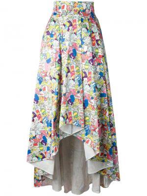 Пышная юбка с графическим принтом Ultràchic. Цвет: многоцветный