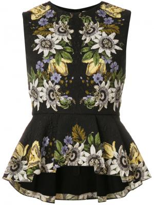 Varo Passion print dress Erdem. Цвет: чёрный