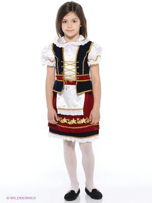 Карнавальный костюм Красная Шапочка Батик. Цвет: бордовый, темно-синий