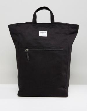 Sandqvist Черный рюкзак Tony. Цвет: черный
