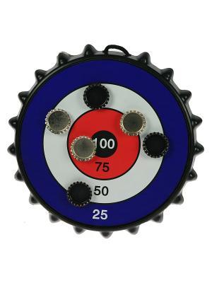 Игра-развлечение к пиву Магнитная мишень для пивных пробок Русские подарки. Цвет: синий, черный