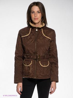 Куртка Siempre es Viernes. Цвет: темно-коричневый, светло-бежевый