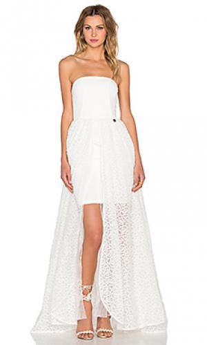 Платье markessa Bronx and Banco. Цвет: белый