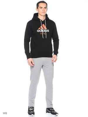 Толстовка с капюшоном Adidas. Цвет: черный, оранжевый