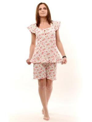 Пижама женская Тефия. Цвет: белый, зеленый, красный