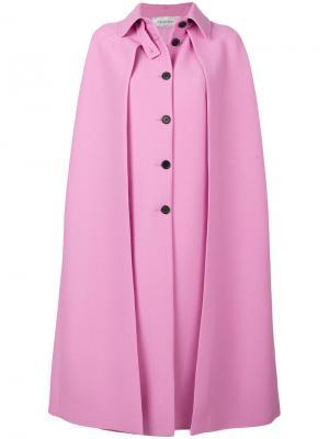 Длинный кейп со складками Valentino. Цвет: розовый и фиолетовый