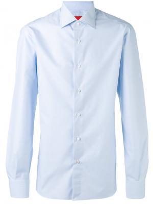 Классическая рубашка Isaia. Цвет: синий