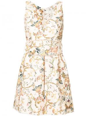 Платье с цветочным принтом Zimmermann. Цвет: многоцветный