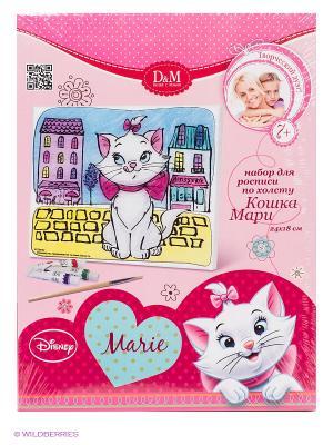 Роспись по холсту Кошка Мари Делай с мамой. Цвет: розовый