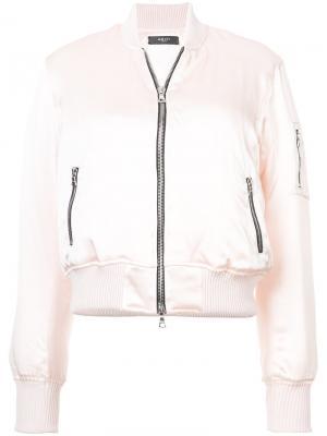 Классическая куртка-бомбер Amiri. Цвет: розовый и фиолетовый