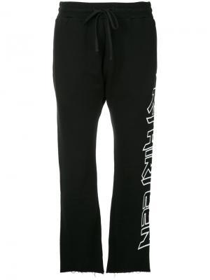 Raw hem track pants R13. Цвет: чёрный