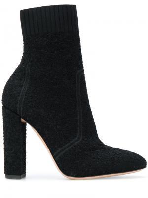 Трикотажные ботинки букле Isa Gianvito Rossi. Цвет: чёрный