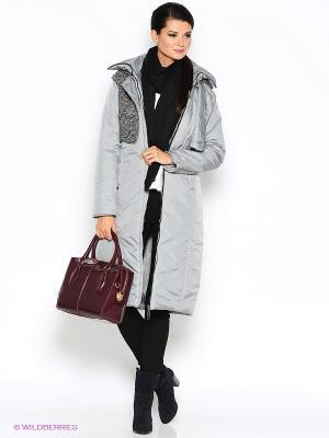 Пальто D`imma. Цвет: серый