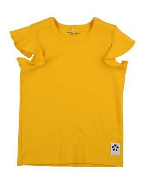 Футболка MINI RODINI. Цвет: желтый