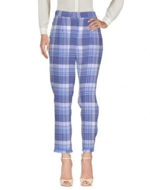 Повседневные брюки EQUIPMENT FEMME. Цвет: синий