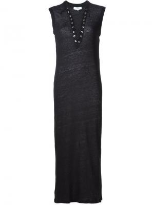 Облегающее платье с вырезом на шнуровке Daisy Iro. Цвет: чёрный