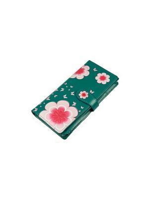 Кошелек Русские подарки. Цвет: зеленый