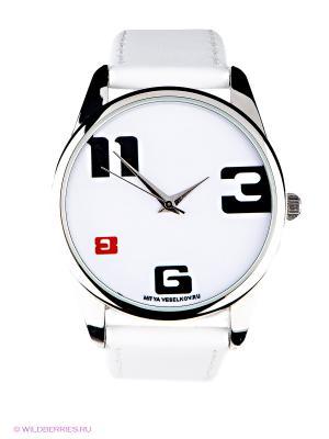 Часы 3-6-8-11  Mitya Veselkov. Цвет: белый