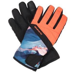 Перчатки сноубордические женские  Sienna Glove Daybreak Dakine. Цвет: черный,оранжевый,синий