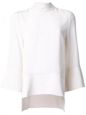 Блузка с укороченными рукавами Studio Nicholson. Цвет: белый