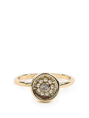 Кольцо-печатка Exclaim. Цвет: золотистый