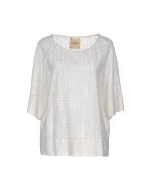 Блузка GARAGE NOUVEAU. Цвет: белый